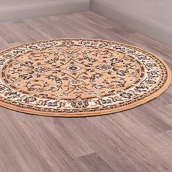 Coronation Circular Rugs In Gold By Rugstyle