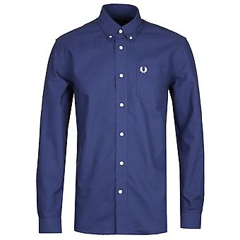 Fred Perry Classic Navy Oxford Shirt