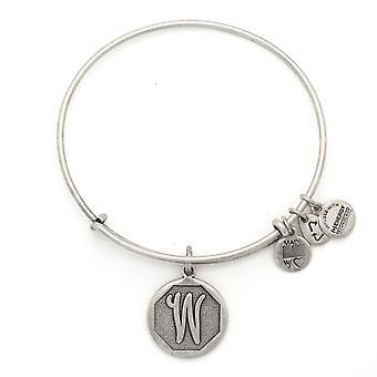 Alex et Ani initiale W bracelet en argent A13EB14WS