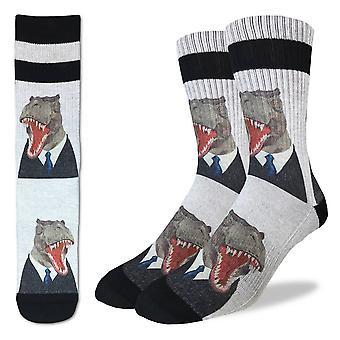 Socks - Good Luck Sock - Men's Active Fit - Mr. T-Rex (8-13) 4087