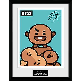 BT21 Shooky Collector Print 16x12 inches 30.5x41cm