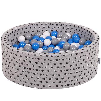 Kiddymoon Baby Ballpit With Balls ∅ 7Cm / 2.75In Certified Made In EU, Crown