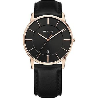 Bering Men's Watch Wristwatch Slim Classic - 13139-466 Leather