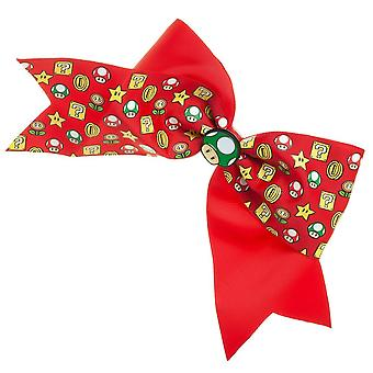 Hair Bow - Super Mario - Mushroom Cheer Bow New hh756msmb