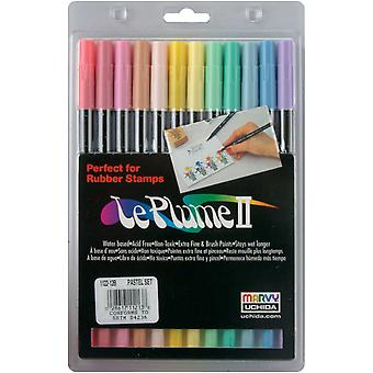 Leplume Ii Double Ended Markers 12 Pkg Pastels 1122 12 B
