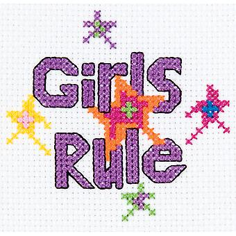 My 1St Stitch Girls Rule Mini Counted Cross Stitch Kit 3