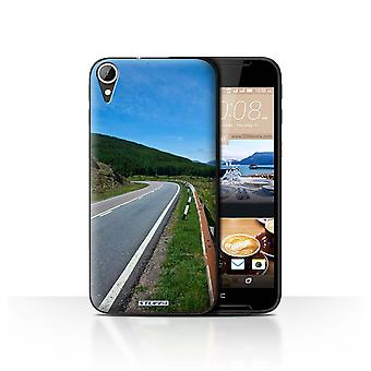 STUFF4 Case/Cover for HTC Desire 830/Road/Scottish Landscape