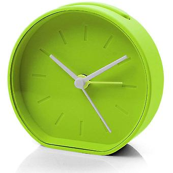Green Lexon Beside Analogue Alarm Clock