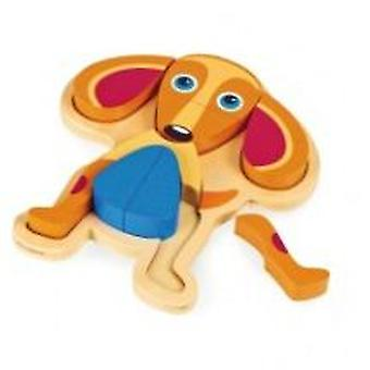 Oops Happy Dog Puzzle Wooden Toys (Toys , Preschool , Puzzles And Blocs)