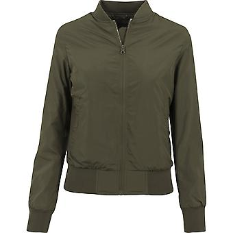 Urban classics ladies - LIGHT BOMBER jacket dark olive