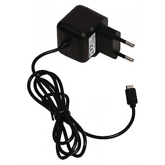 ValueLine AC charger with micro USB connector, micro USB male-AC-contact for home 1.00 m, Black 2 (1)