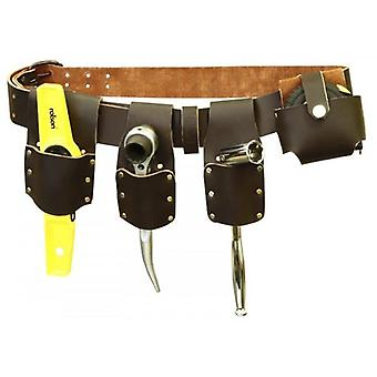 Rolson Heavy Duty Builder's Mate 4 Pocket Tool Leather Belt