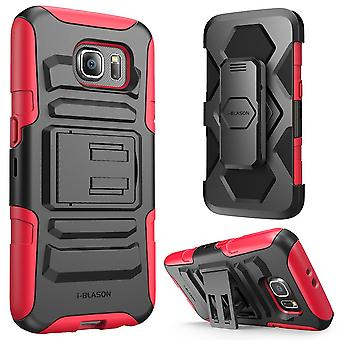 i-Blason Samsung Galaxy S6 Case - Prime Series Holster Case - Red