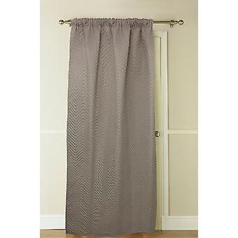 Country Club Thermal Door Curtain, 117 x 213cm, Natural Latte