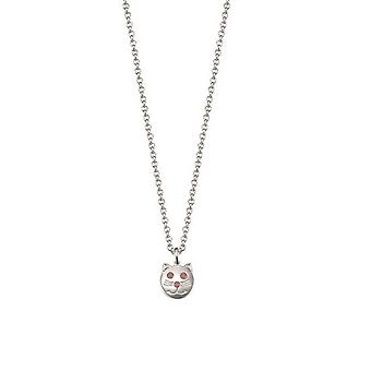 ESPRIT kids chain necklace silver cat ESNL92781A340