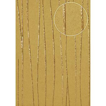 Stripes Atlas COL-765-5 non-woven wallpaper smooth design shimmering gold beige 5.33 m2