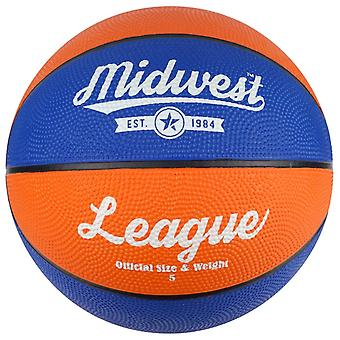 Midwest Basketball Orange & Blue Size 5