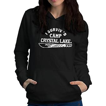 I Survived Camp Crystal Lake Friday the 13th Women's Hooded Sweatshirt