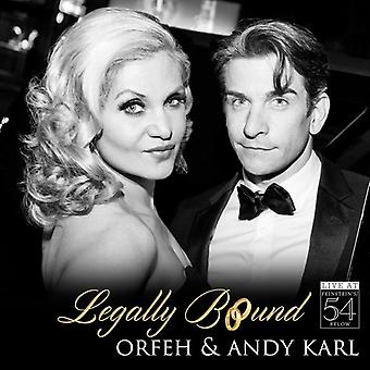 Orfeh / Karl * Andy - juridisk bundet - Live på Feinstein's / 54 nedenfor [CD] USA import