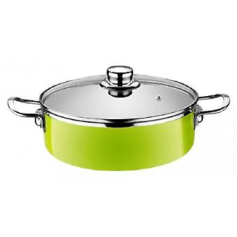 Monix Pan Baja  Lima  Enameled Steel Induction Apta