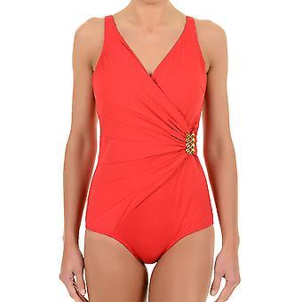 David sólido rojo pieza sumergirse 6520-DU de traje de baño