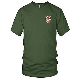 US Army - 7th Special Forces Group Crest Desert Red 7 Embroidered Patch - Mens T Shirt