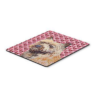 Cairn Terrier Hearts Love and Valentine's Day Mouse Pad, Hot Pad or Trivet