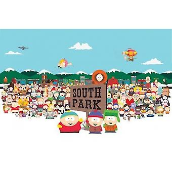 South Park Cast Poster Poster Print