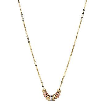9ct 375 Gold Womens Ladies Fine Chain Necklace with Inbound Vibrant Round Balls Charms