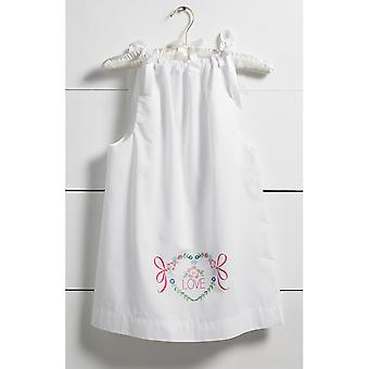 Love Pillowcase Dress Stamped For Embroidery Kit-Size 3-8 47716