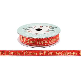 CGB Giftware Christmas No Peeking Until Christmas Gift Ribbon