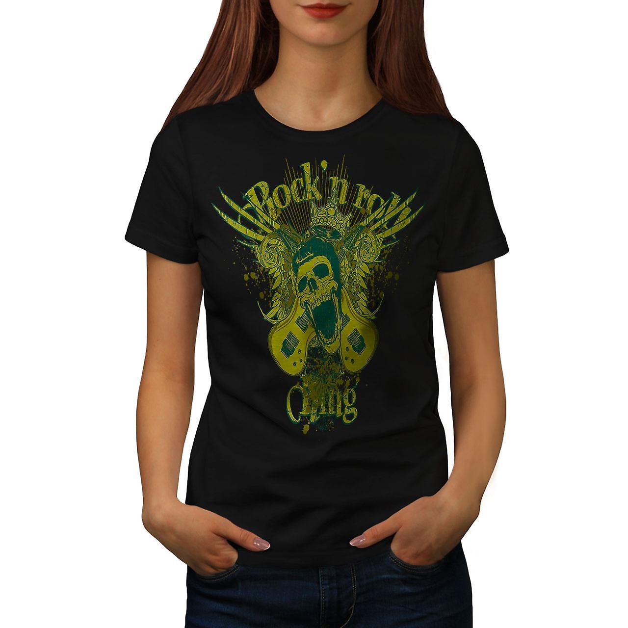 Rock N Roll Gang Music Women Black T-shirt | Wellcoda