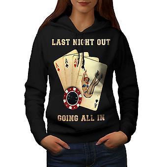 All In Card Bachelor Women BlackHoodie | Wellcoda