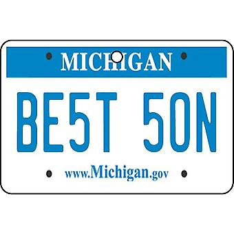Michigan - Best Son License Plate Car Air Freshener