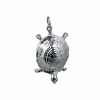 Silver 29x18mm Tortoise Pendant or Charm