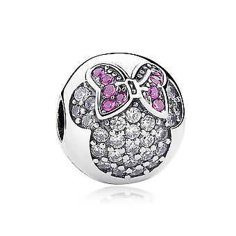 Sterling silver clip Minnie Mouse PAS191