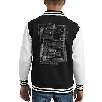 Apple I Computer Schematic Kid's Varsity Jacket