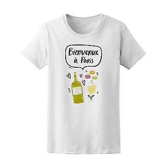 Bienvenue A Paris Französisch zitieren Tee Frauen-Bild von Shutterstock