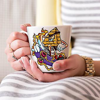 Skate Piramida moda Nowa Biała herbata kawa Latte ceramiczny kubek 17 oz   Wellcoda