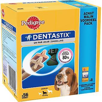 Pedigree Dentastix Daily Oral Care Trear Medium Dog 10-25k g, 56 Sticks, 1.44kg