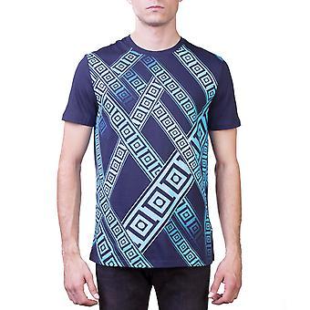 Versace collectie mannen bemanning hals Fit Regular T-Shirt Navy Blue
