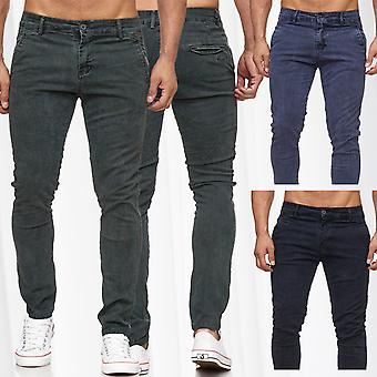 Men's Chino jeans denim pants patterned tapered leg