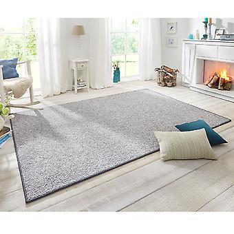 Design gulvtæppet wolly i uld-grå
