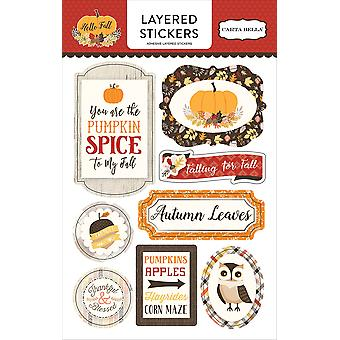 Hello Fall Layered Stickers