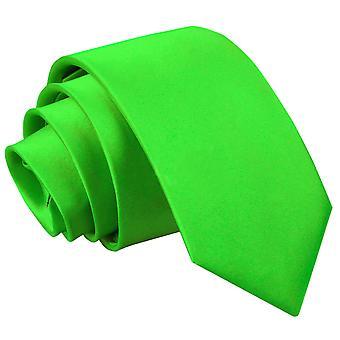 Pomme verte plaine Satin régulier cravate pour les garçons