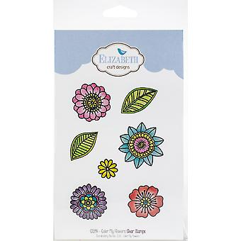 Elizabeth Craft Clear Stamps-Color My Flowers