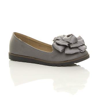 Lavoro di Ajvani delle donne intelligenti fiocco fiore scarpe basse scarpe mocassini ballerina dolly