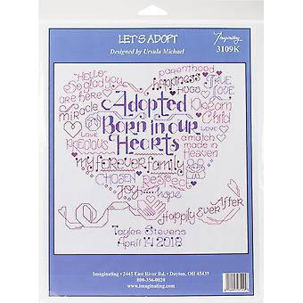 Let's Adopt Counted Cross Stitch Kit-9.5