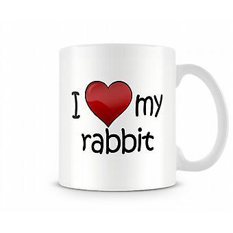 Ich liebe mein Kaninchen bedruckte Becher