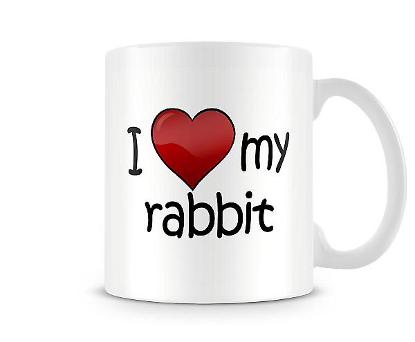 I Love My Rabbit Printed Mug